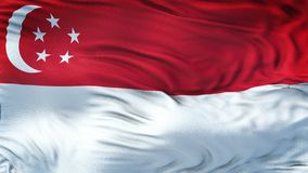 Fondo realista de la bandera de SINGAPUR que agita Foto de archivo libre de regalías