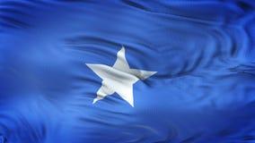 Fondo realista de la bandera de SOMALIA que agita Foto de archivo