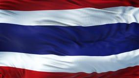 Fondo realista de la bandera de TAILANDIA que agita Fotografía de archivo libre de regalías