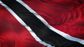Fondo realista de la bandera de TRINIDAD AND TOBAGO que agita Imagen de archivo libre de regalías