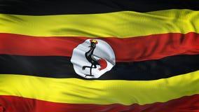 Fondo realista de la bandera de UGANDA que agita Fotografía de archivo libre de regalías