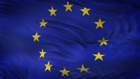 Fondo realista de la bandera de la UNIÓN que agita EUROPEA Fotos de archivo libres de regalías