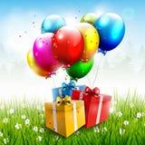 Fondo realista del cumpleaños Imagen de archivo