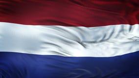 Fondo realista HOLANDÉS de la bandera que agita Fotos de archivo libres de regalías