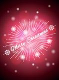 Fondo realistico con i punti culminanti luminosi, Natale fondo, fondo di Natale Illustrazione di vettore Fotografia Stock