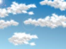 Fondo realistico del cielo della nuvola per il web Fotografia Stock Libera da Diritti