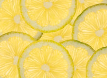 Fondo rebanado de los limones Fotografía de archivo