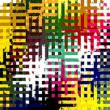 Fondo rectangular caótico colorido abstracto hermoso del modelo de los rompecabezas de la pintura de Digitaces Fotografía de archivo libre de regalías
