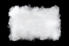 Fondo rectangular de la nube de humo imagen de archivo