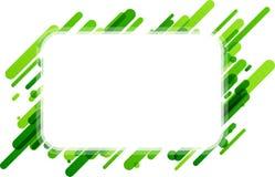 Fondo rectangular verde en blanco Fotografía de archivo