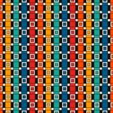 Fondo rectangular vertical repetido de los bloques Adorno de los ladrillos Modelo inconsútil contemporáneo con el ornamento geomé Imagen de archivo libre de regalías