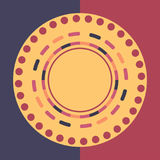 Fondo redondo colorido de la tecnología Ilustración digital abstracta Concepto de la conexión Diseño redondo electrónico Abstract Foto de archivo libre de regalías