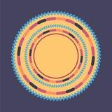Fondo redondo colorido de la tecnología Ilustración digital abstracta Concepto de la conexión Diseño redondo electrónico Abstract Ilustración del Vector