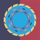 Fondo redondo colorido de la tecnología Ilustración digital abstracta Concepto de la conexión Diseño redondo electrónico Abstract Libre Illustration