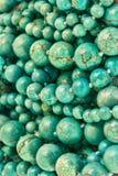 Fondo redondo de los granos de la turquesa Fotos de archivo libres de regalías