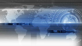Fondo redondo 4K de la tecnología del círculo abstracto