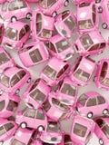 Fondo redondo rosado del coche imagenes de archivo