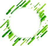 Fondo redondo verde en blanco Imágenes de archivo libres de regalías
