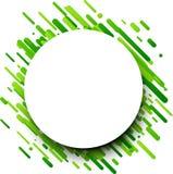 Fondo redondo verde en blanco Imagen de archivo