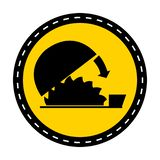 Fondo regolabile di Isolate On White della guardia di uso di simbolo, illustrazione di vettore illustrazione di stock