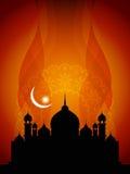 Fondo religioso astratto del eid con la moschea. illustrazione di stock