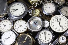 Fondo-relojes Fotografía de archivo