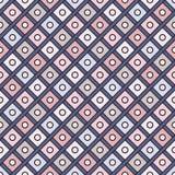 Fondo repetido de los diamantes Adorno geométrico Diseño superficial inconsútil del modelo con el ornamento cuadrado de los color libre illustration