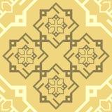Fondo repetidor del vector de la textura de la teja del modelo de Brown del ornamento del café inconsútil del capuchino ilustración del vector