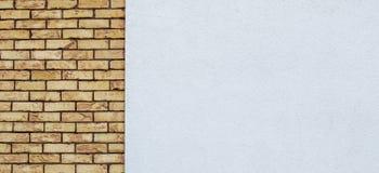 Fondo resistido moderno de la bandera de pared de ladrillo Fotos de archivo
