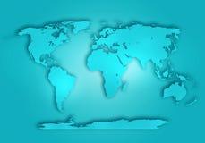 Fondo resumido digital del mapa del mundo libre illustration