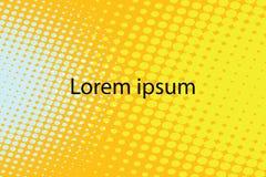Fondo retro abstracto amarillo del arte pop del lorem ipsum ilustración del vector