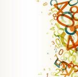 Fondo retro abstracto con números libre illustration
