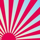 Fondo retro abstracto de la salida del sol. Vector. Fotos de archivo