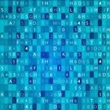 Fondo retro abstracto del negocio de la tecnología de la calculadora numérica Imágenes de archivo libres de regalías