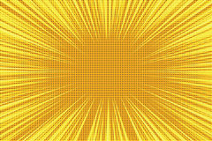 Fondo retro amarillo-naranja del vintage del arte pop de los rayos ilustración del vector