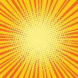Fondo retro cómico del arte pop de los rayos amarillo-naranja stock de ilustración