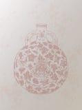 Fondo retro chino del florero del estilo Fotos de archivo
