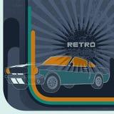 Fondo retro con el coche del músculo Imagen de archivo libre de regalías