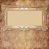 Fondo retro con el marco decorativo Foto de archivo libre de regalías