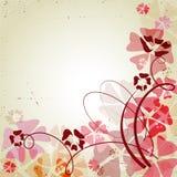 Fondo retro con las flores del color Imagen de archivo libre de regalías
