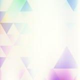 Fondo retro con los triángulos multicolores Imágenes de archivo libres de regalías