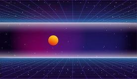 fondo retro de la ciencia ficción 80s stock de ilustración