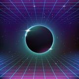 fondo retro de la ciencia ficción 80s Imagen de archivo
