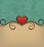 Fondo retro de la elegancia del día de tarjeta del día de San Valentín Imagen de archivo libre de regalías