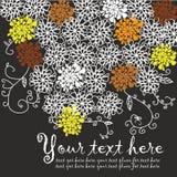 Fondo retro de la flor blanca Fotografía de archivo libre de regalías