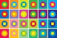Fondo retro de la geometría del estilo Fotos de archivo