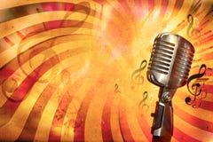Fondo retro de la música Imagen de archivo libre de regalías