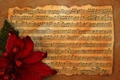 Fondo retro de la música de la Navidad Imagenes de archivo
