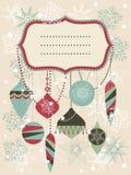 Fondo retro de la Navidad Fotografía de archivo libre de regalías