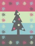 Fondo retro de la Navidad ilustración del vector